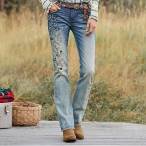 Driftwood Kelly bootcut embroidered jeans